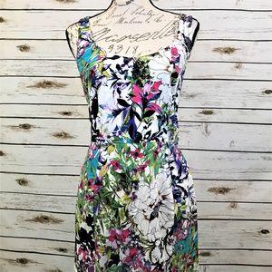 Nicole Miller Floral Tropical Dress